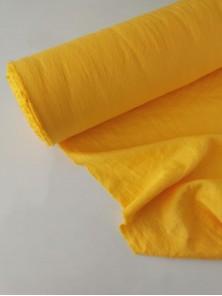 1363. Ткань лён крэш с эффектом помятости костюмный Спелое манго
