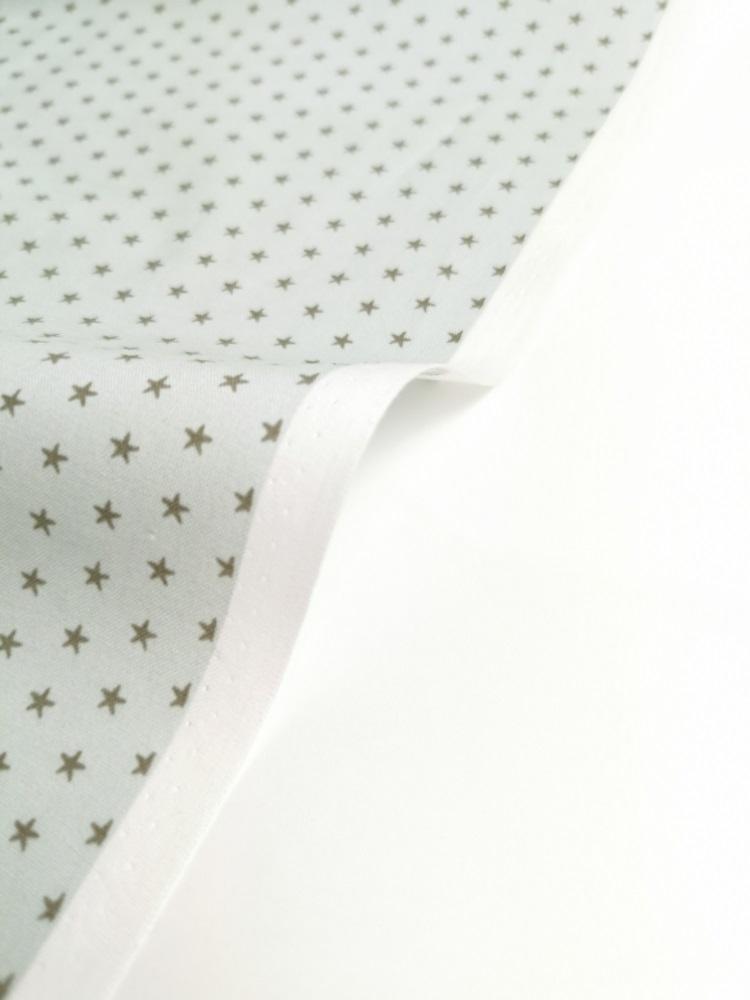Ткань хлопок Звезды на серо-голубом