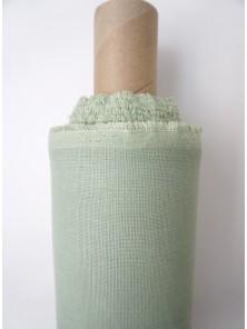 1380. Ткань полулён умягченный костюмный Спаржа