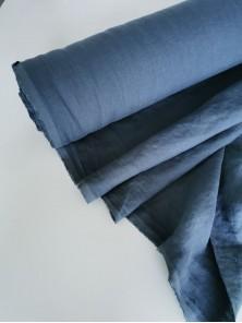 1625. Ткань лён крэш с эффектом помятости костюмный Гроза